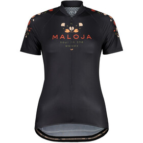 Maloja RubinieM. 1/2 Kurzarm Fahrradtrikot Damen schwarz